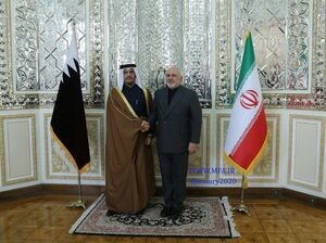 عکس/ سفر وزیر خارجه قطر به تهران