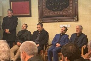 عکس/ حضور همتی در منزل سردار شهید سلیمانی
