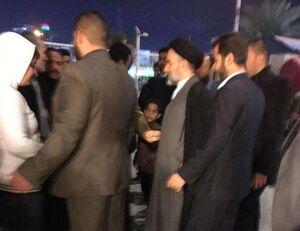عکس/ حضور فرزند آیتالله سیستانی در فرودگاه نجف برای استقبال از شهدای مقاومت