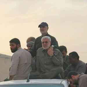 تصویر منتشرنشده از شهید حاج قاسم سلیمانی و شهید ابومهدی المهندس