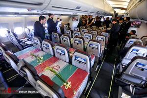 هواپیمای حامل سردار سپهبد شهید حاج قاسم سلیمانی
