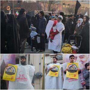 عکس/ کفنپوش شدن مشهدی ها در محکومیت ترور سردار سلیمانی