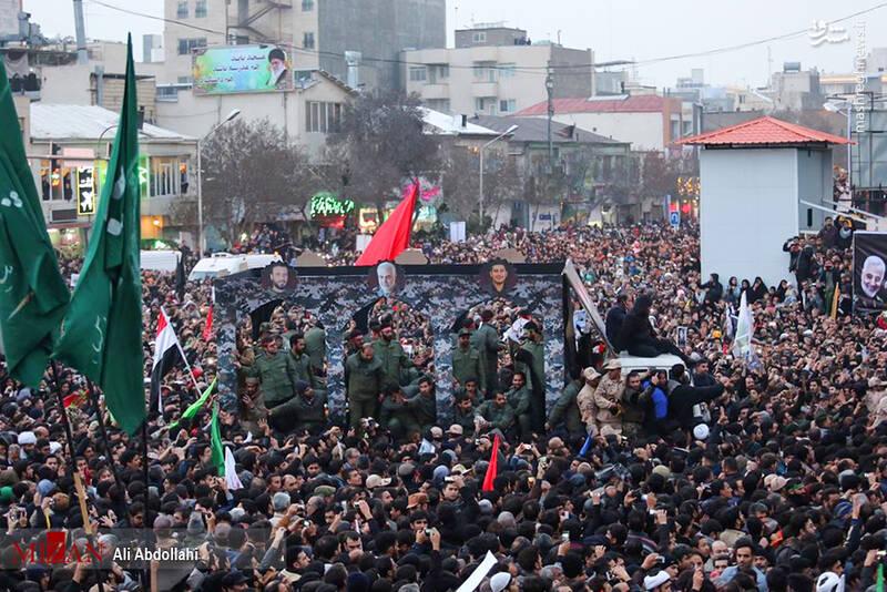 تشییع پیکر سردار سپهبد شهید حاج قاسم سلیمانی در مشهد