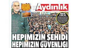 تیتر روزنامه ترکیهای درباره حاج قاسم +عکس