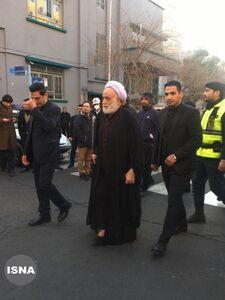 عکس/ حجت الاسلام قرائتی در مراسم تشییع سردار سلیمانی