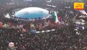 فیلم/  اشکهای مردم هنگام اقامه نماز بر پیکر شهیدان مقاومت
