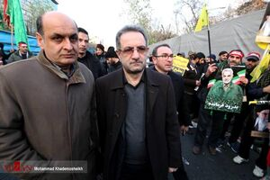 عکس/ حضور استاندار تهران در مراسم تشییع سرداران مقاومت