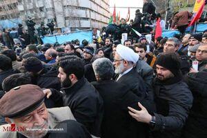 عکس/ حضور دادستان کل کشور در مراسم تشییع سردار سلیمانی