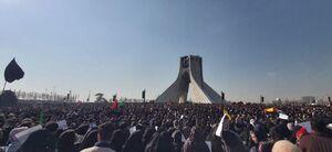 جمعیت حاضر در میدان آزادی