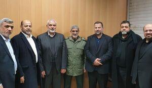 عکس/ دیدار هیئت بلند پایه حماس با سردار قاآنی