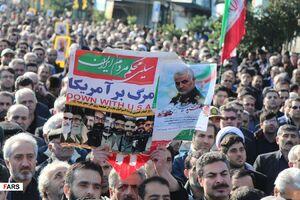 عکس/ اجتماع عظیم منتقمین خون سردار سلیمانی در آستارا