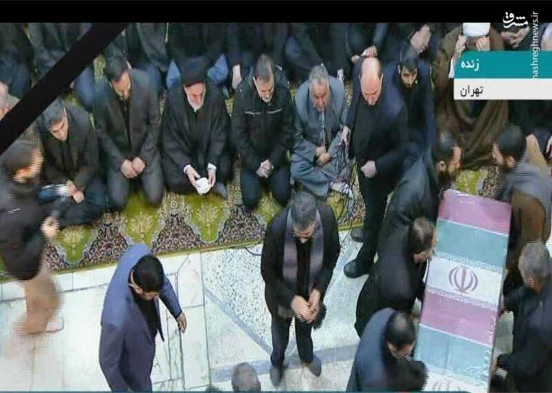 ورود پیکر شهدای مقاومت به دانشگاه تهران