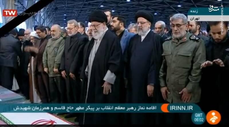 حضور رهبرانقلاب در مراسم تشییع شهدای محور مقاومت