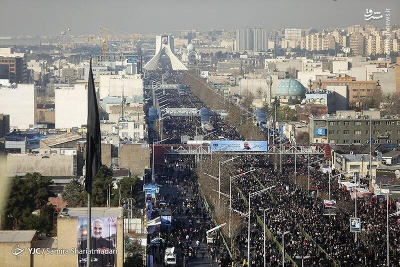مراسم تشییع پیکر سردار سپهبد شهید حاج قاسم سلیمانی در تهران
