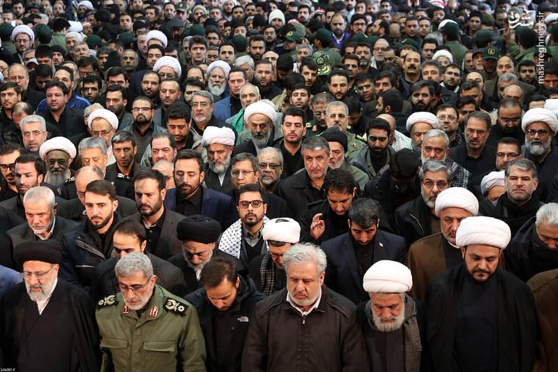 حضور چهرهای سرشناس در مراسم تشییع شهدای محور مقاومت