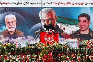 مراسم تشییع پیکر مطهر شهید سلیمانی در کرمان