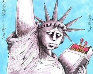 کاریکاتور/ آمریکای آتش افروز