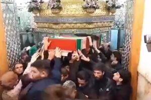 فیلم/ پیکر شهیدان طارمی و زمانینیا در حرم حضرت عبدالعظیم(ع)