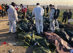 اجساد مسافران هواپپیمای سانحه دیده اوکراینی