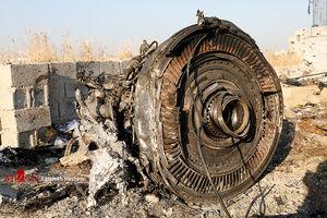 موتور هواپیمای سقوط کرده اوکراینی