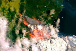 تصاویر ماهواره ای از آتش سوزی گسترده استرالیا