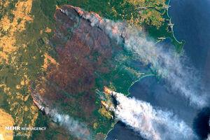 تصاویر ماهوارهای از آتش سوزی گسترده استرالیا