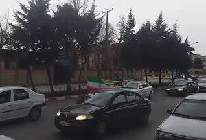 """فیلم/ رژه موتورسواران و ماشینسواران در حمایت از """"انتقام سخت"""""""