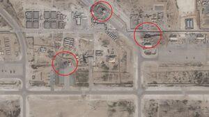 تصاویر ماهوارهای از خسارات حمله موشکی ایران