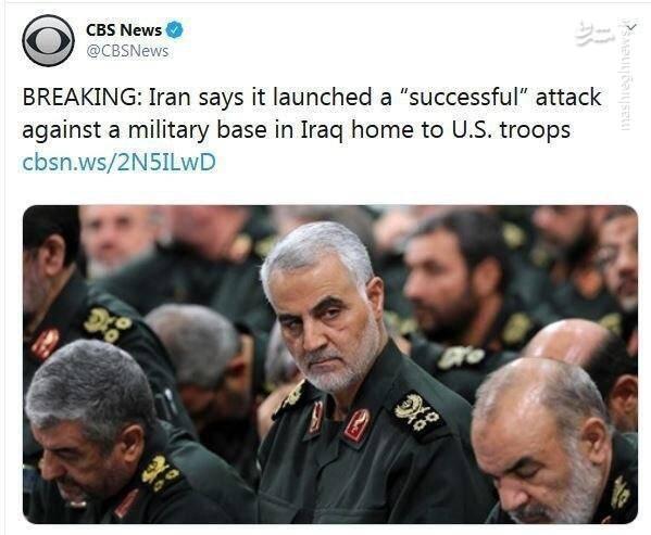 ایران از حمله موفقیت آمیز موشکی علیه نظامیان آمریکایی خبر داد