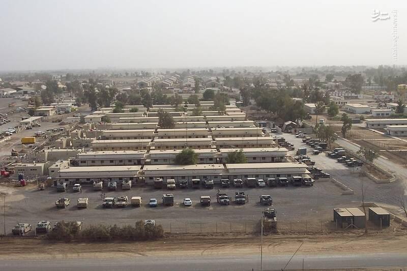 نمایی از پایگاه التاجی در  اربیل قبل از حملات موشکی سپاه پاسداران