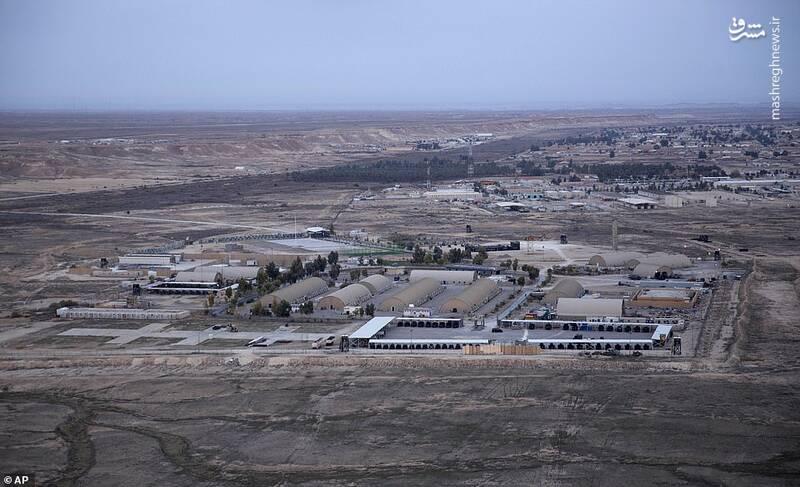 نمایی از پایگاه عینالاسد قبل از حملات موشکی سپاه پاسداران
