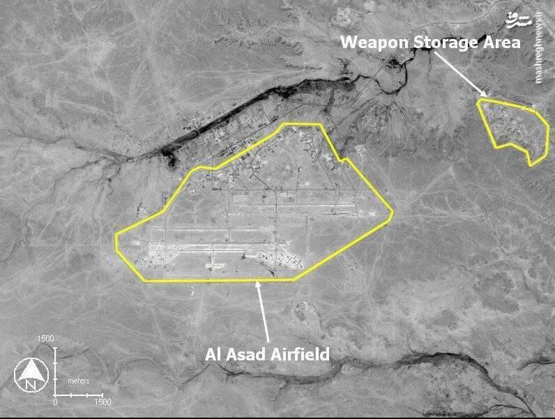 تصویر ماهوارهای از پایگاه آمریکایی که ایران با خاک یکسان کرد