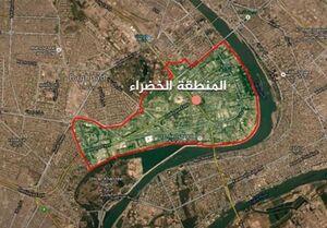 منطقه الخضراء بغداد هدف حمله موشکی قرار گرفت