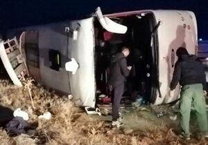 ۱۹ کشته در واژگونی اتوبوس در محور سوادکوه +عکس