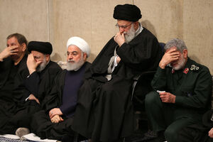 عکس/ مراسم بزرگداشت حاج قاسم سلیمانی در محضر رهبر انقلاب