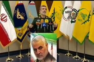 تصویر معنادار از نشست خبری سردار حاجیزاده