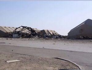 تصاویری از داخل پایگاه «عین الأسد» پس از حمله