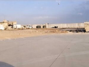 فیلم/ ورود خبرنگاران الجزیره به داخل پایگاه عینالاسد