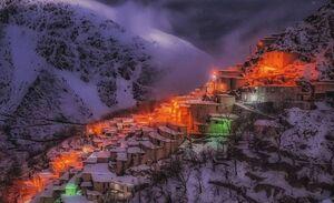 یک شب زمستانی در روستای دولاب