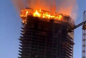 فیلم/ آتشسوزی در برج مسکونی در شارجه