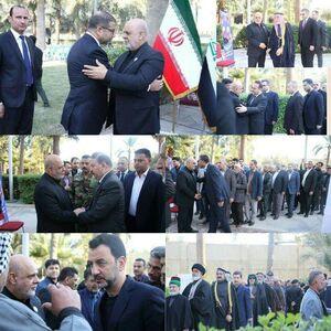 عکس/ حضور شخصیتها در سفارتخانه ایران در بغداد