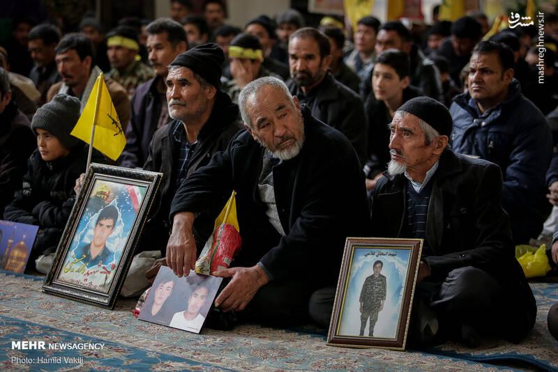 اجتماع فاطمیون در رثای سپهبد شهید حاج