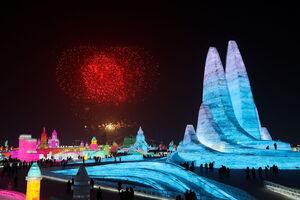 تصویری زیبا از جشنواره یخی چین