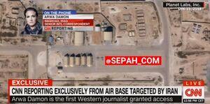 فیلم/ خبرنگار CNN : آمریکا قادر نبود جلوی موشکهای ایران را بگیرد