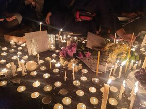 عکس/ گرامیداشت یاد جانباختگان سقوط هواپیمای اوکراینی در دانشگاه