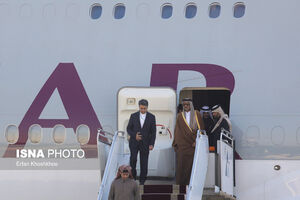 عکس/ ورود امیر قطر به تهران
