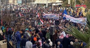 تجمع هزاران نفر در «الحسکه» علیه اشغالگری ترکیه