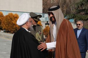 استقبال رسمی دکتر روحانی از امیر قطر