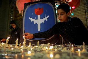 عکس/ گرامیداشت جانباختگان سانحه هوایی بوئینگ اوکراینی