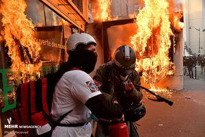عکس/ تظاهرات خشونت بار در فرانسه
